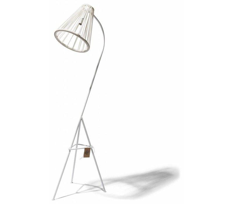 Kahlo Floor Lamp White/White