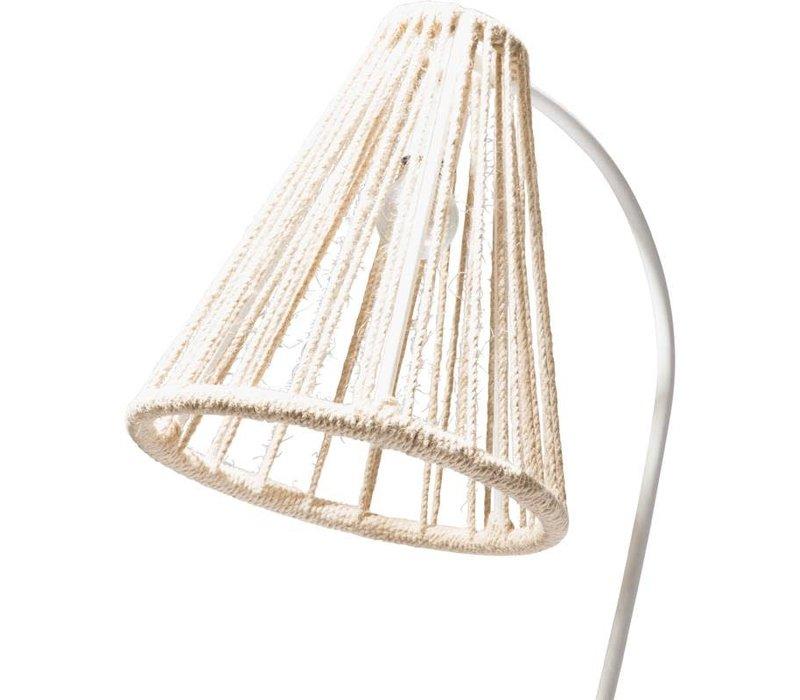 Kahlo Floor Lamp White/Hemp Rope