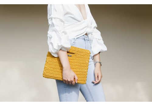 "Binge Knitting ""Mona"" Clutch"