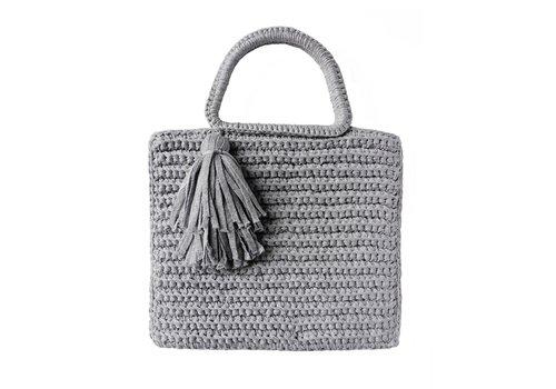 Binge Knitting Shimmer Tassel Tote