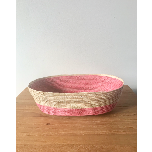 Palm Leaf Basket Oval Small