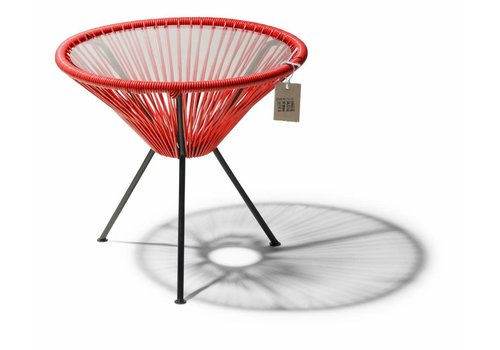 Silla Acapulco Side Table Japon Small Black/Red