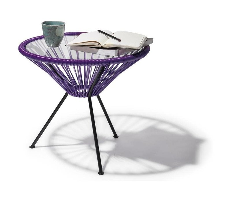Side Table Japon Small Black/Purple