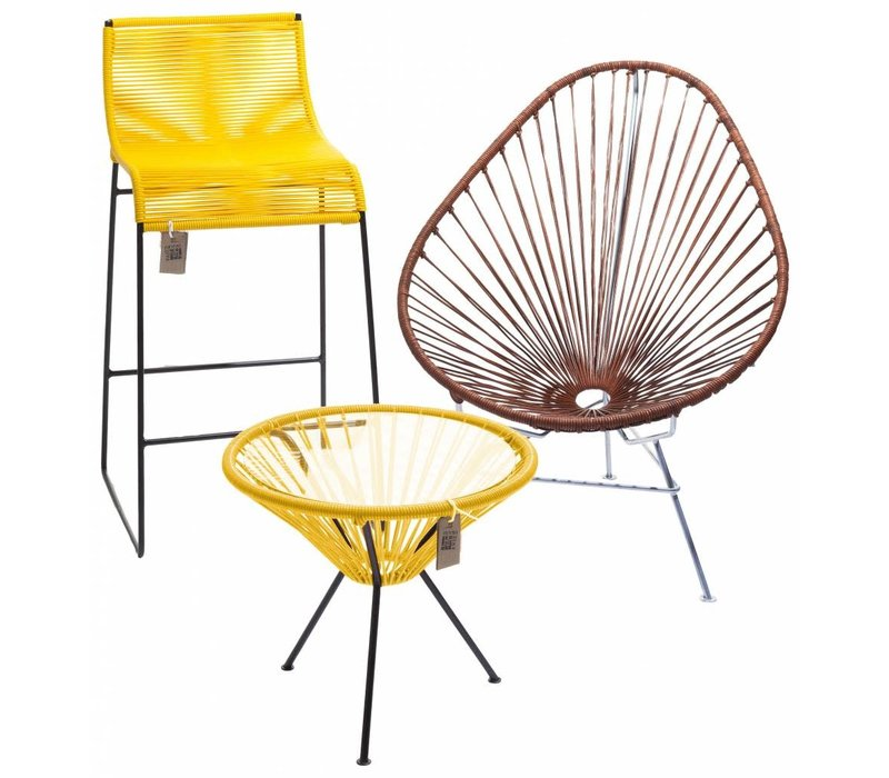 Side Table Japon Small Black/Yellow