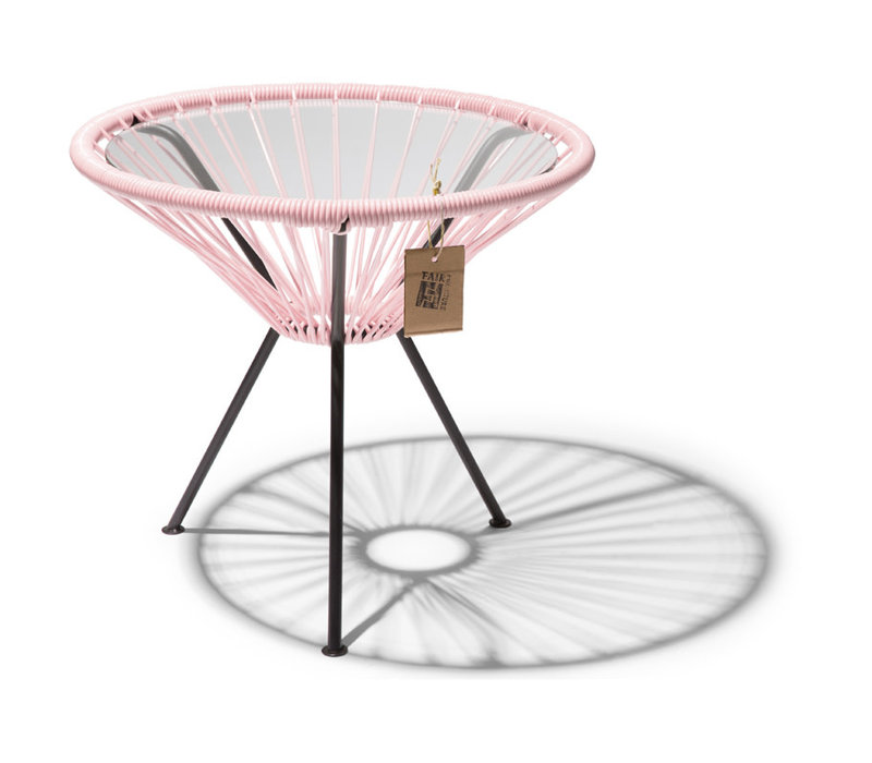 Side Table Japon Small Black/Pastel Pink
