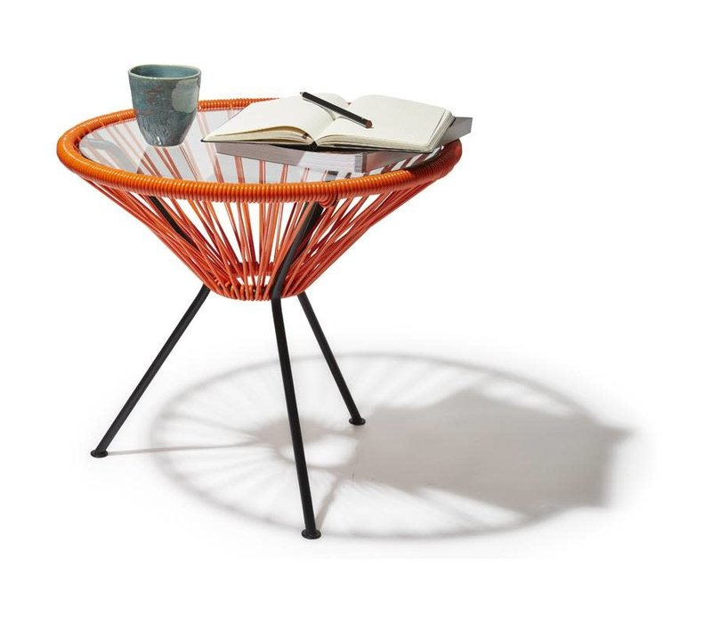Side Table Japon Small Black/Orange