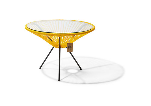 Silla Acapulco Side Table Japon XL Black/Yellow