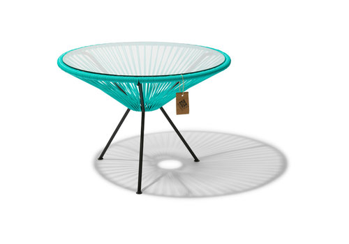 Silla Acapulco Side Table Japon XL Black/Turquoise
