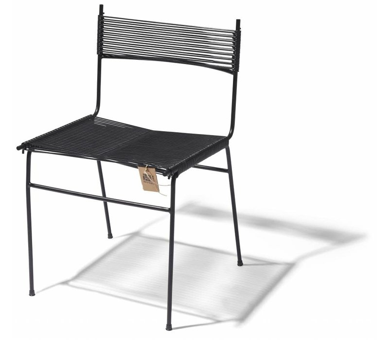 Polanco Dining Chair Tube Base Black/Black