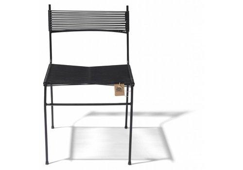 Silla Acapulco Polanco Dining Chair Tube Base Black/Black