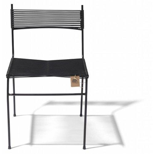 Polanco Dining Chair Tube Base Black/Black