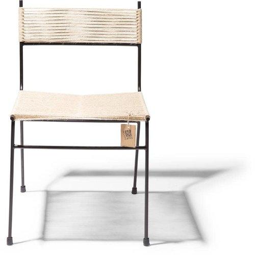 Polanco Dining Chair Tube Base Black/Hemp