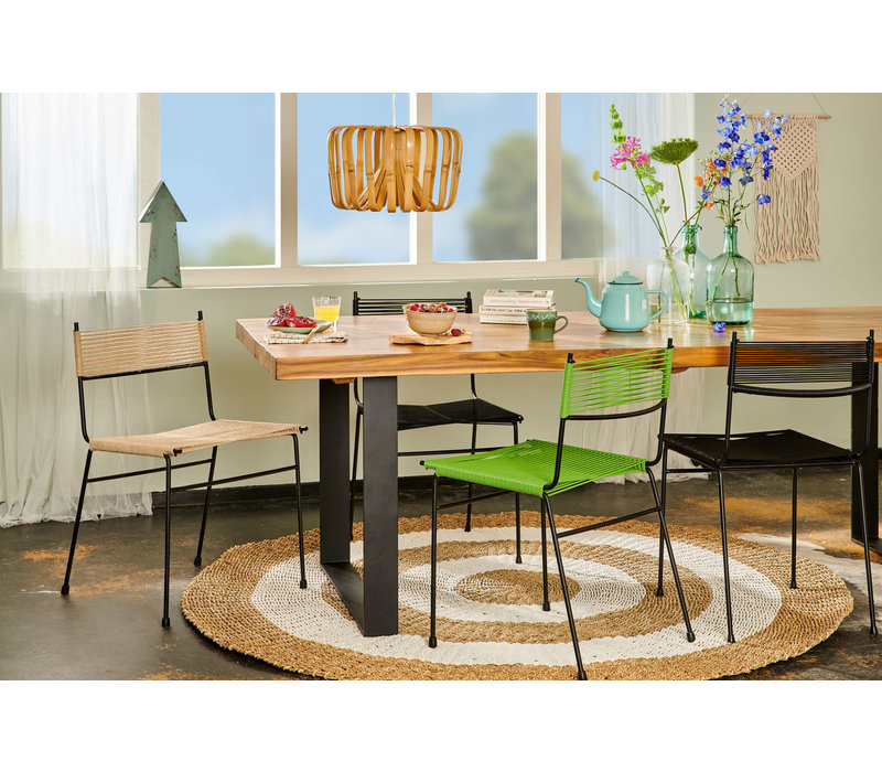 Polanco Dining Chair Tube Base Black/Hemp