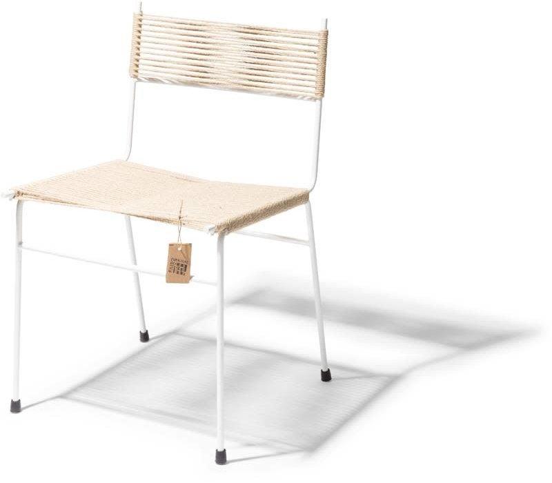 Polanco Dining Chair Tube Base White/Hemp