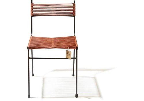 Silla Acapulco Polanco Dining Chair Tube Base Black/Leather
