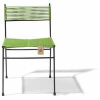 Polanco Dining Chair Tube Base Black/Olive Green