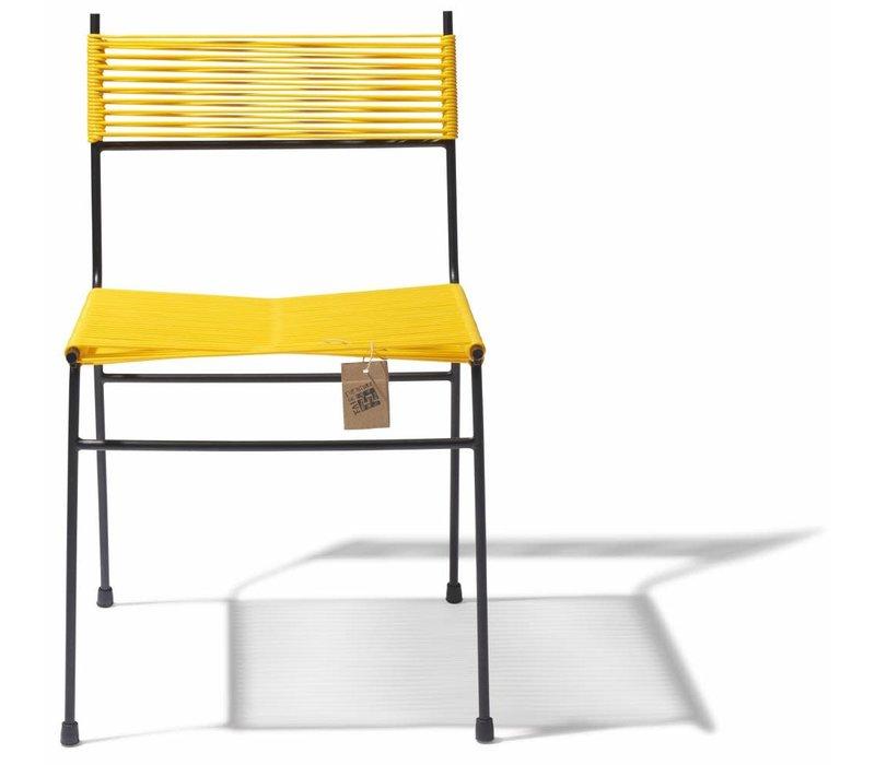 Polanco Dining Chair Tube Base Black/Yellow