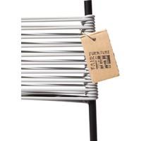 Polanco Dining Chair Tube Base Black/Light Grey
