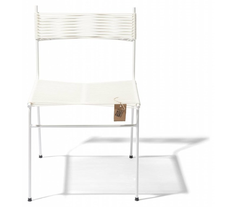 Polanco Dining Chair Tube Base White/White