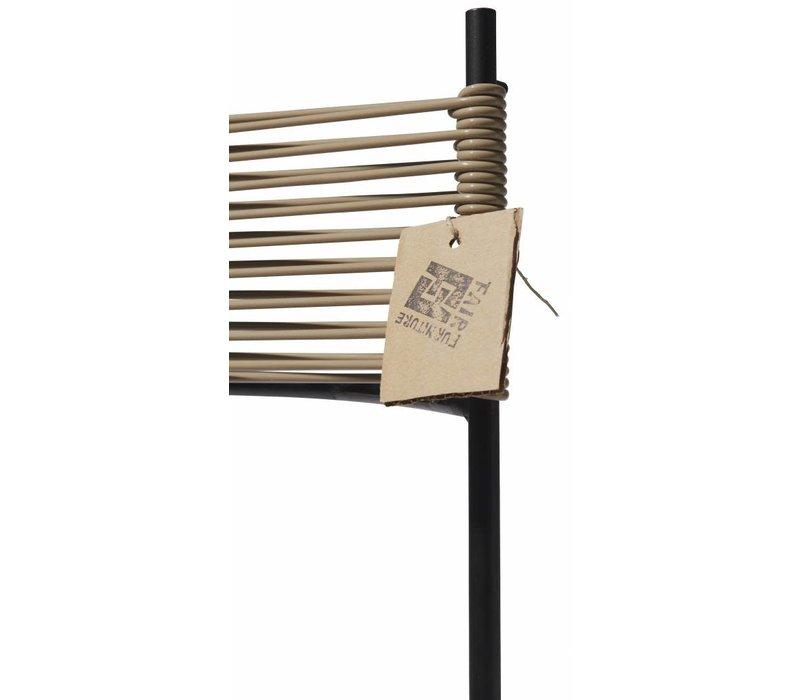 Polanco Dining Chair Tube Base Black/Beige