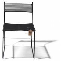 Polanco Dining Chair Sled Base Black/Black