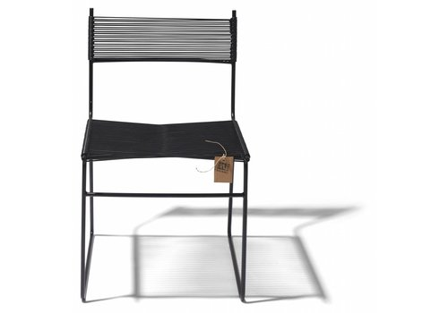 Silla Acapulco Polanco Dining Chair Sled Base Black/Black