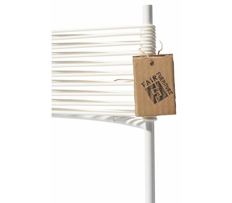 Polanco Dining Chair Sled Base White/White