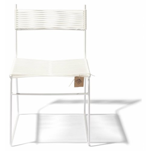 Polanco Dining Chair Sled Base White/White