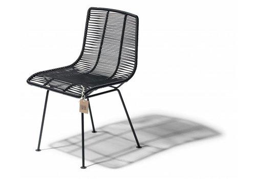 Silla Acapulco Rosarito Dining Chair Black/Black