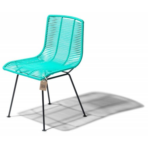 Rosarito Dining Chair Black/Aqua Turquoise