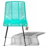 Rosarito Dining Chair Black/Aqua Turquoise