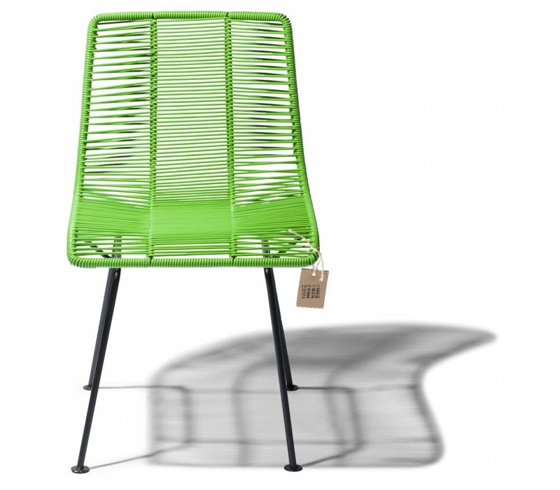 Rosarito Dining Chair Black/Apple Green