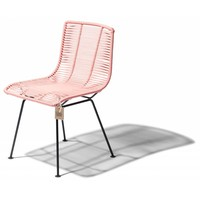 Rosarito Dining Chair Black/Salmon Pink