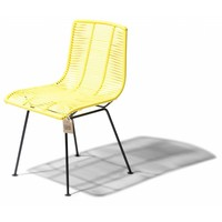 Rosarito Dining Chair Black/Canary Yellow