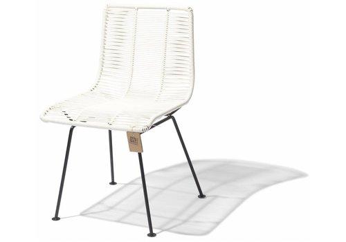 Silla Acapulco Rosarito Dining Chair Black/White