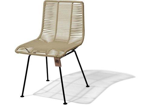 Silla Acapulco Rosarito Dining Chair Black/Beige
