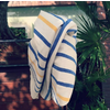 Hula Beach Throw - Big Stripe Blue Yellow - 170x89cm