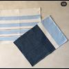 Hula Placemat/Napkin - Blue/Navy - Set of 4