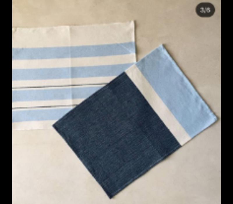 Placemat/Napkin - Blue/Navy - Set of 4