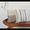 Hula Left Cushion Square Horizontal Stripes