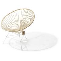 Condesa Lounge Chair White/Hemp