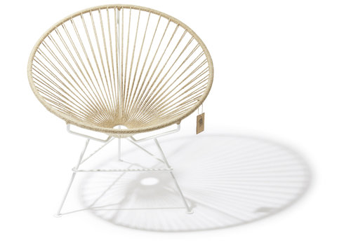 Silla Acapulco Condesa Lounge Chair White/Hemp