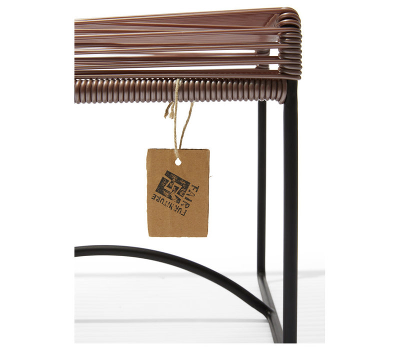Xalapa Stool Black/Taupe