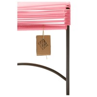 Xalapa Stool Black/Salmon Pink