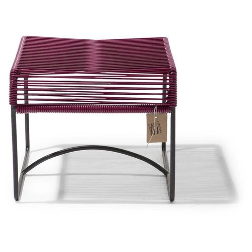 Xalapa Stool Black/Wine Red
