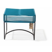 Xalapa Stool Black/Petrol Blue
