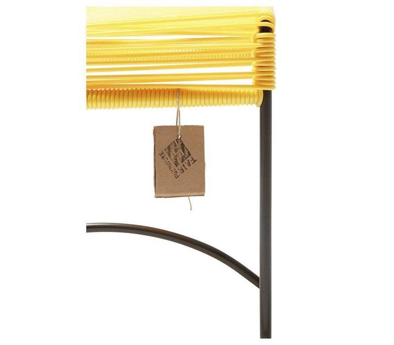Xalapa Stool Black/Canary Yellow