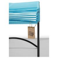 Xalapa Stool Black/Pastel Blue