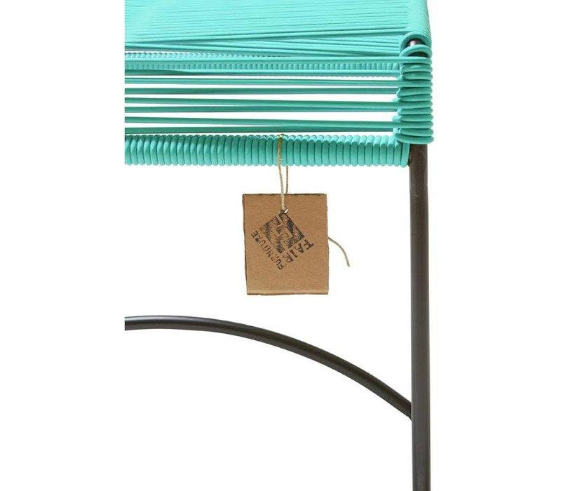 Xalapa Stool Black/Turquoise