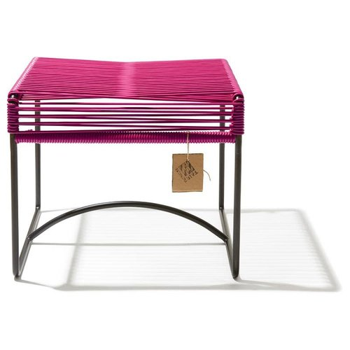 Xalapa Stool Black/Bougainvillea